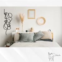 Hiasan Dinding Couple Line Art - Wall Decor Modern Minimalist