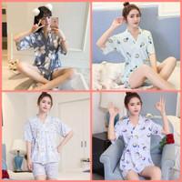 PRINCESS WARDROBE - Renata Sleepwear Set / baju tidur kimono hotpants