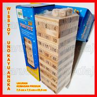 wooden toys uno stacko balok kayu angka number jenga wiss toy besar