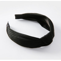 Bando Simpul Wanita Fashion Korea Polos Black Bandana Rambut Hairband