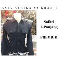 Paket Setelan Seragam Navy Security | Stelan Baju Safari PDL Lengkap