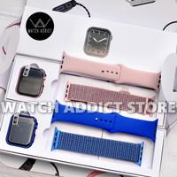 GPS IWO i8 Pro SmartWatch Series 6 Jam Apple watch SE Waterproof 14 44 - Biru