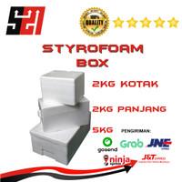 Box Styrofoam Es Krim Ikan Sayuran 2kg 5kg - 2KG
