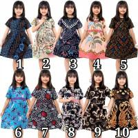 Dress batik Anak 2 sampai 10 Tahun - Baju batik Anak Perempuan