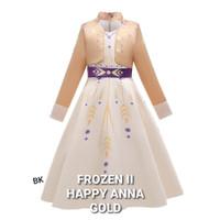 MILANBERRY FROZEN 2 HAPPY ANNA DRESS GOLD baju anak perempuan elsa