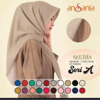 jilbab segi empat Saudia polos Rawis ansania/hijab/kerudung