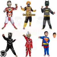 Kostum Superhero Anak/ baju panjang anak/ setelan panjang anak-anak