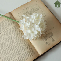 Bunga Simulasi - Hortensia / Hydrangea Spray P26 - Putih