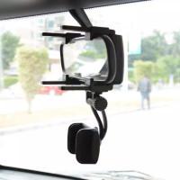 HOLDER HP GPS DI KACA SPION MOBIL ADJUSTABLE 360° TEMPAT HP DI MOBIL