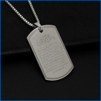 Kalung Pria Necklace Stainless Steel Arabic Silver