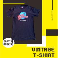 Kaos Pria Vintage 90s PlanetHollywood Singapore 1998 Origina