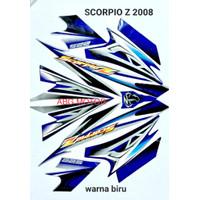 LIS BODY STRIPING STIKER BODY YAMAHA SCORPIO Z 2008 BIRU