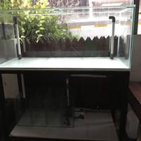 Aquarium 150x60x60 sump dan rak