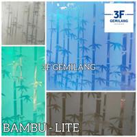 Fiber Plastik Penutup Pagar Motif Bambu Lite Meteran
