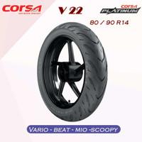 BAN MOTOR MATIC CORSA V22 Platinum 80/90-14 /VARIO/BEAT/MIO/SCOOPY