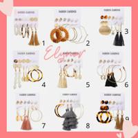 Elynor - 6 Pasang / Set Anting Fashion Wanita / Anting Tusuk Bohemian
