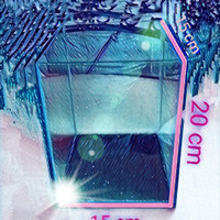 aquarium soliter cupang kaca 20 cm x 15 cm x 15 cm