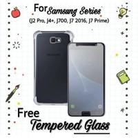 Case Samsung J7 Prime Anti Crack-Matte Case Hitam-Auto Focus Free TG