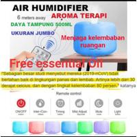 Air Humidifier Diffuser 7 Color 500ml Pelembab Udara Aroma Terapi RGB