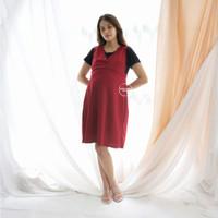 Baju Hamil Menyusui Zara Dress Overall Kaos - DRO 744