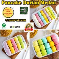 Pancake Durian Medan isi 21 / 15 / 10 Pancake Durian Mini Rainbow
