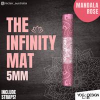 YOGA DESIGN LAB Infinity Yoga Mat 5.5mm FREE STRAP/ MANDALA ROSE