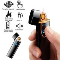 Korek Elektrik Fingerprint - Korek Api Elektrik Sensor Touchscreen