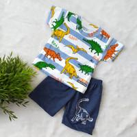 Baju Bayi Laki Laki 6 12 Bulan Setelan Premium Dino Salur