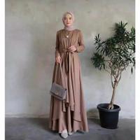 Baju Gamis Syari Wanita Terbaru Aluna Maxi Dress Termurah