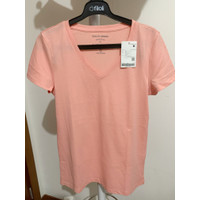 Giordano Tee Shirt Woman V Neck Size M New Sale