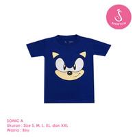 Baju Kaos Distro Anak Premium Sonic The Hedgehog A 1-8 Tahun Shirton