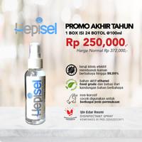 Hepisel Disinfectant Spray - Promo Box Set (Isi 24 pcs @100ml)