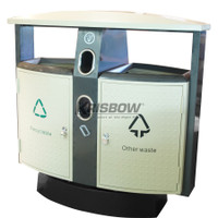 KRISBOW DUST BIN 2 COMPARTMENT OUTDOOR RECYCLE Item #10088876