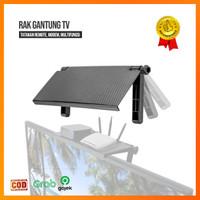 Rak Gantung TV Monitor Tatakan remote modem / Rak TV Top Shelf Display