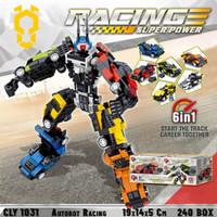 Transformers mobil robot racing mainan anak brick blok susun