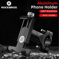 Holder HP Motor Phone Holder Rockbros Sepeda 360 Stabil Almunium Alloy