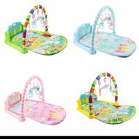 baby play gym musical piano playmat mainan bayi mat