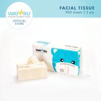 Wateru Natural Bamboo Tissue / Tisu Bambu - Facial 900s 1 Pack