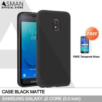 Ultraslim Samsung Galaxy J2 Core (5.0) | Case Black Matte + FREE TG