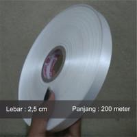 Label baju pita satin polos 2,5 cm