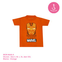 Baju Kaos Distro Anak Premium Iron Man A 1-8 Tahun Shirton