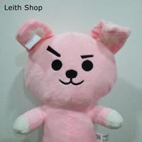 Boneka BTS Cooky Jungkook Kelinci Pink Rabbit Bangtan Boys BT21 Line