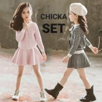 MILANBERRY CHIKA SET baju setelan anak perempuan korea import rok girl