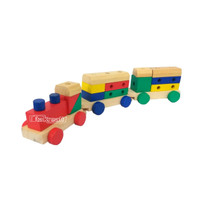 Mainan Edukasi Anak Kereta Balok Kayu 5 in 1