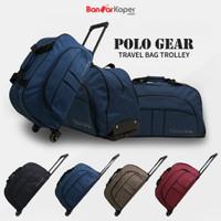 Tas Koper Kabin Travel Bag Trolley Polo Gear Original 8827 Navy