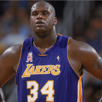 BAJU JERSEY BASKET CLASSIC NBA SHAQUILLE ONEAL LA LAKERS UNGU