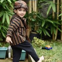Setelan Baju Lurik Anak Laki laki / Baju Adat Jawa Laki Laki