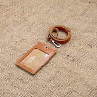 name tag kulit asli id card holder kulit id badge kulit