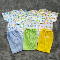 Setelan Baju Bayi (3 STEL) Laki Laki Perempuan Kinara SNI 3-6 Month