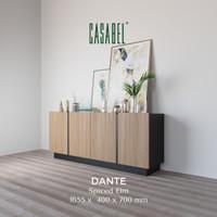Meja TV Minimalis Sideboard Buffet Kabinet Serbaguna CASABEL Dante